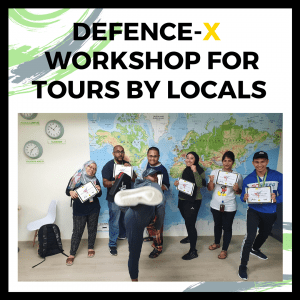 Defence-X workshop for Tours by Locals